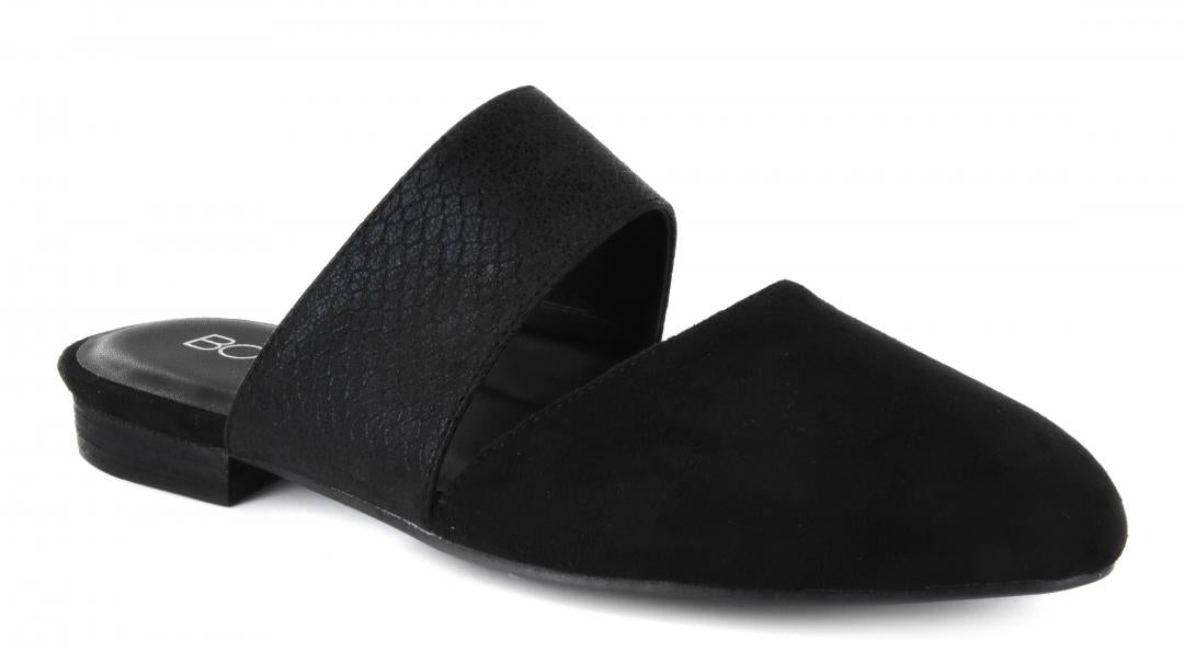 Corkys Shoes - Carina Black Suede Flat
