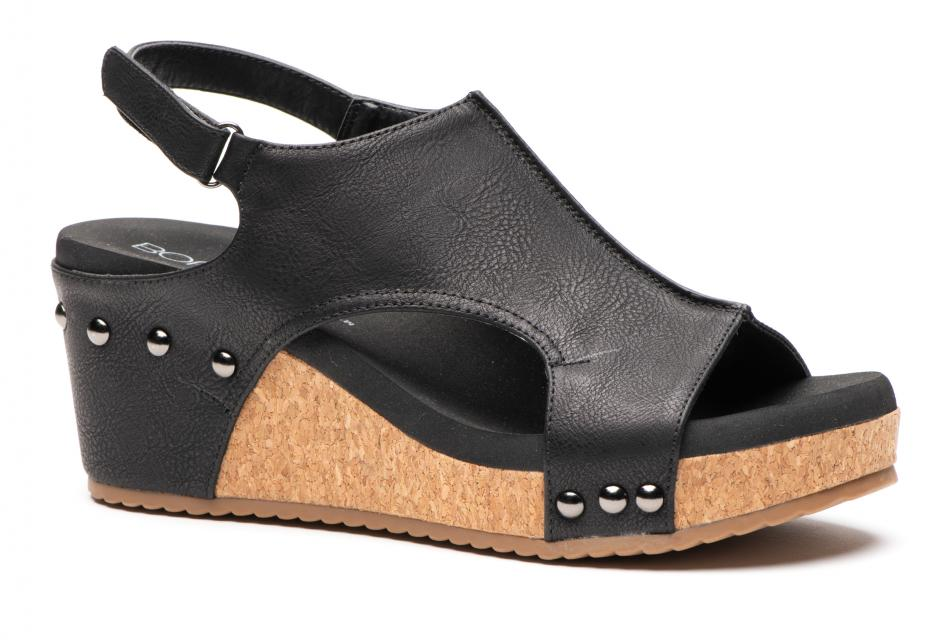 Corkys Shoes - Carley Black Wedge