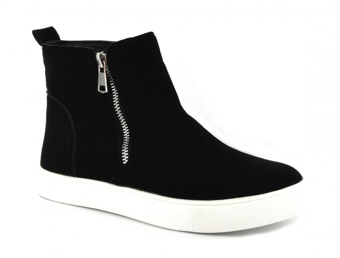 Corkys Shoes - Hunt Black Suede Wedge