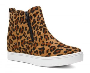Corkys Shoes - Hunt Leopard Suede Wedge