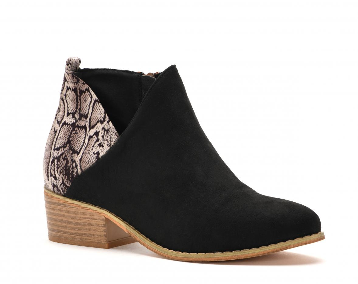 Corkys Shoes - Port Black Snake Bootie