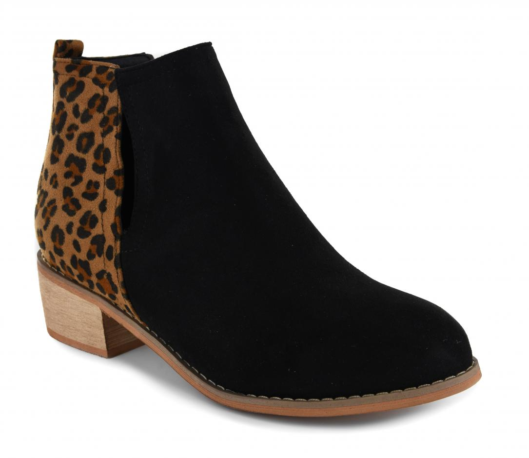 Corkys Shoes - Shield Black Leopard Bootie