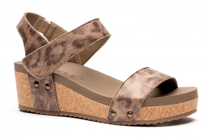 Corkys Shoes - Slidell Distressed Leopard Wedge