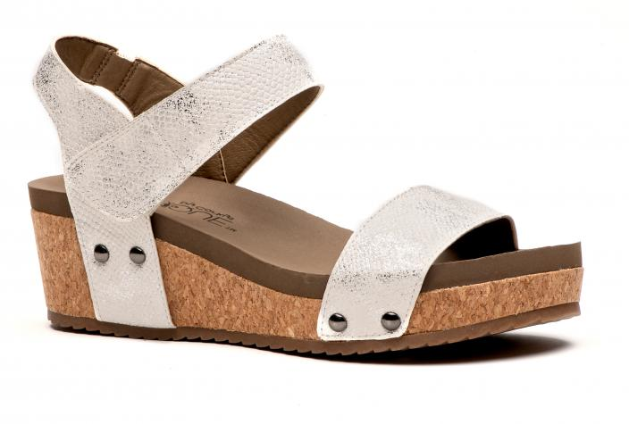 Corkys Shoes - Slidell White Wedge