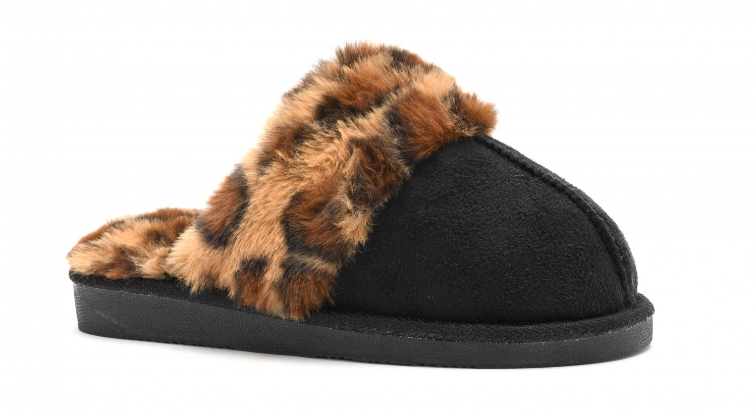 Corkys Shoes - Snooze Black Leopard Slipper