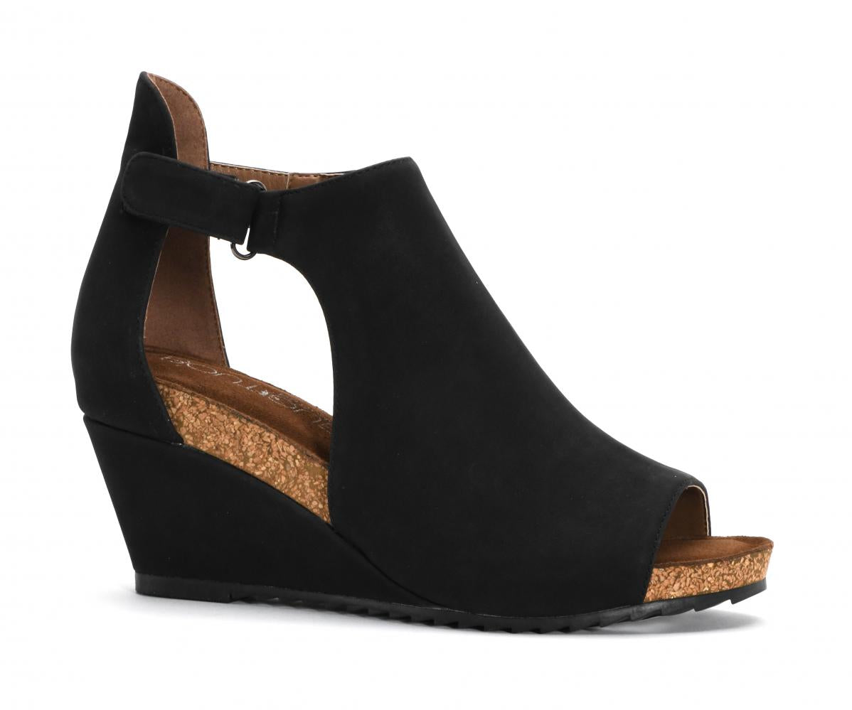 Corkys Shoes - Sunburst II Black Wedge