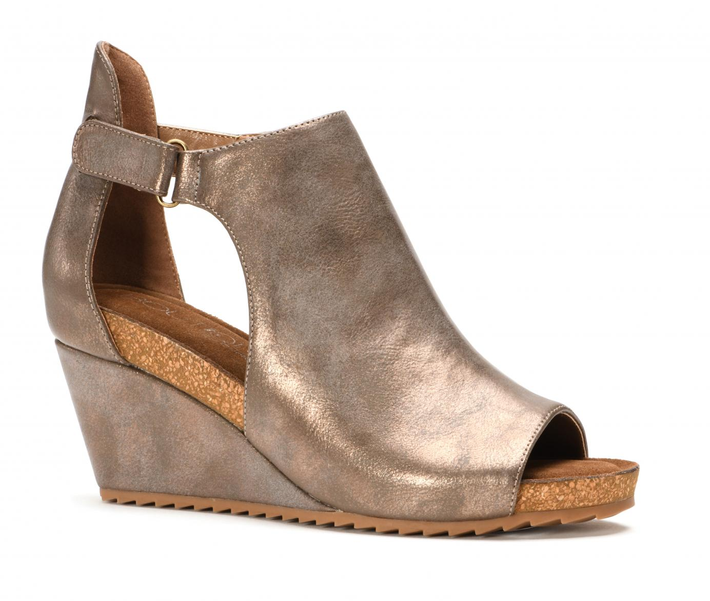 Corkys Shoes - Sunburst II Bronze Metallic Wedge