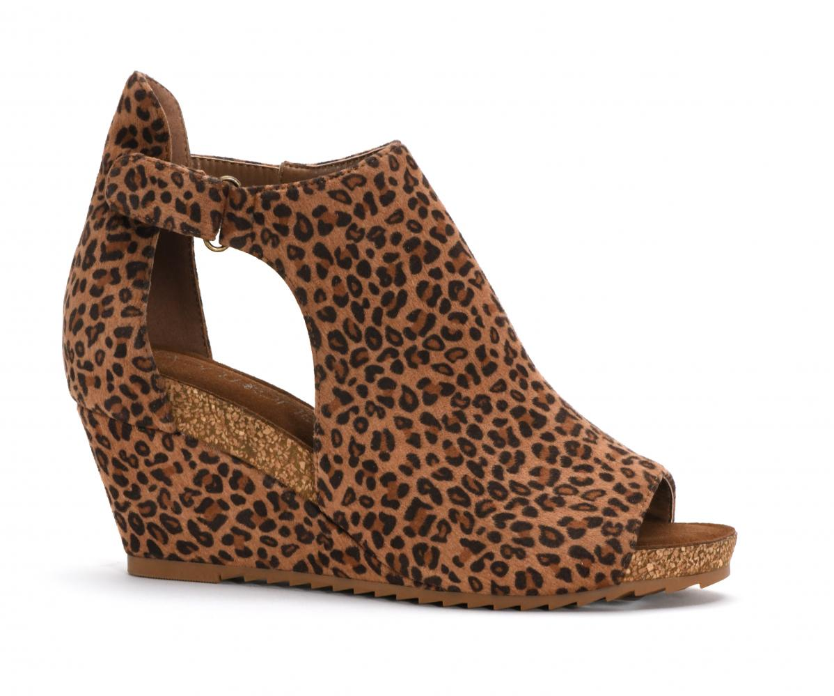 Corkys Shoes - Sunburst II Small Leopard Wedge