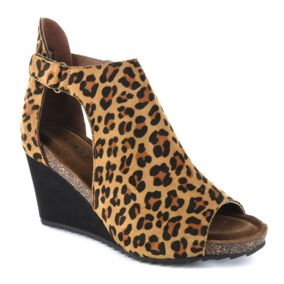 Corkys Shoes - Sunburst Leopard Wedge