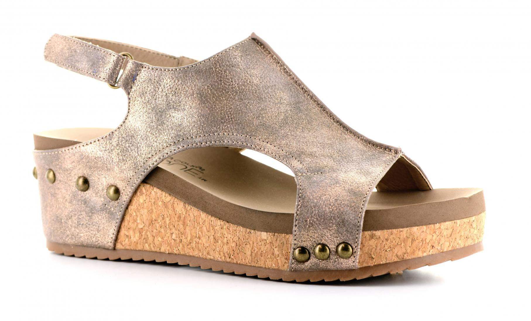Corkys Shoes - Volta Bronze Wedge