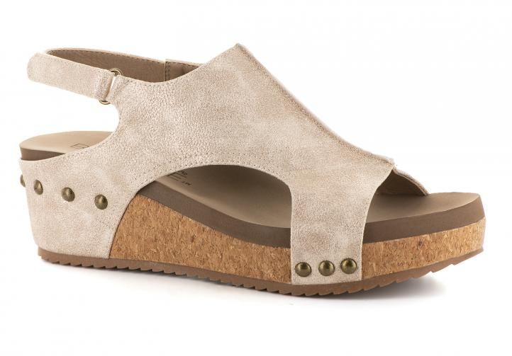 Corkys Shoes - Volta Gold Metallic Wedge