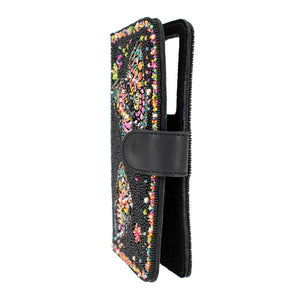Mary Frances Butterfly Kiss Beaded Phone Case