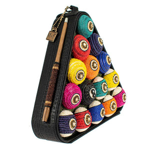 Mary Frances Chalk It Up Beaded Top Handle Bag