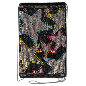 Mary Frances Seeing Stars Beaded Crossbody Phone Bag