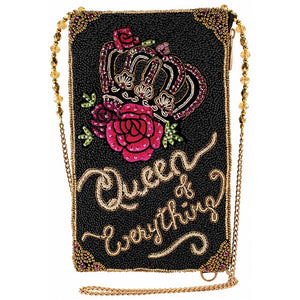 Mary Frances Queen of Everything Beaded Crossbody Phone Bag