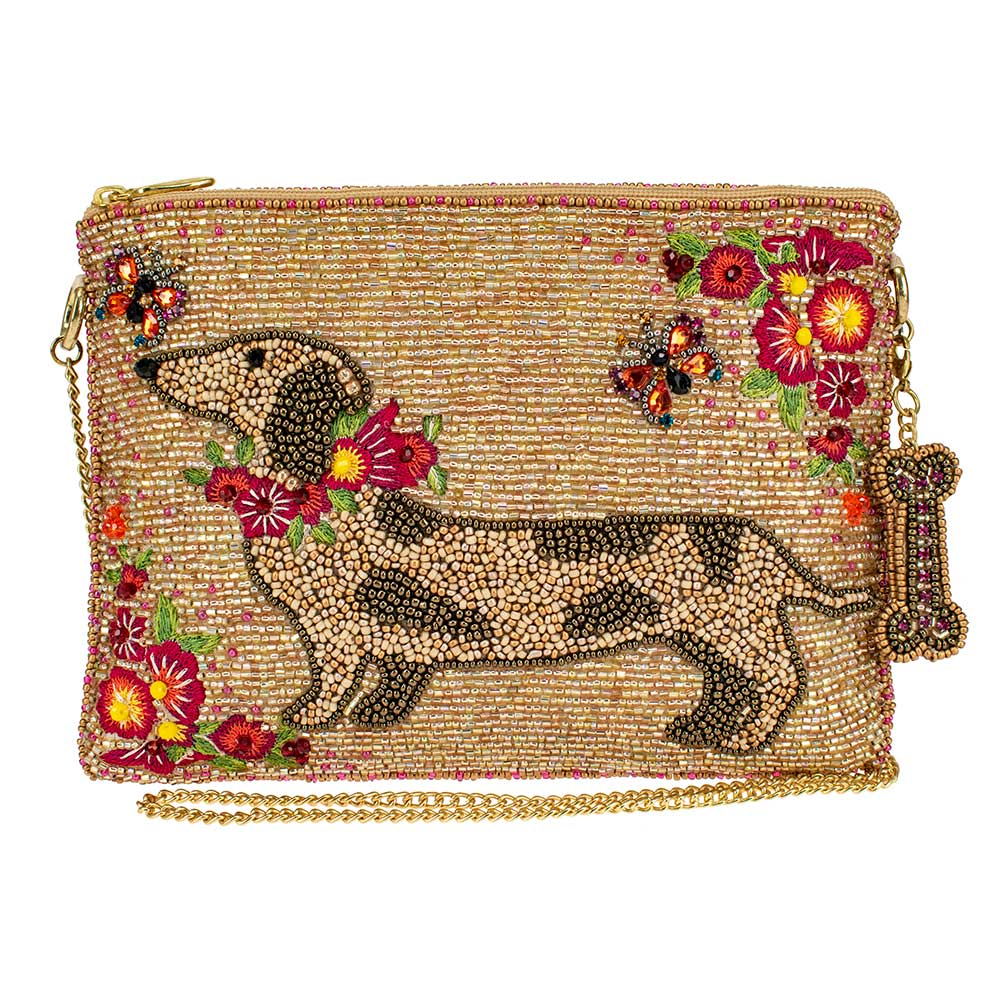 Mary Frances Doxie Beaded Mini Bag