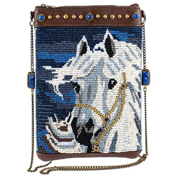 Mary Frances Horse Play Beaded Crossbody MINI Bag
