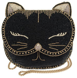 Mary Frances Whiskers Beaded Crossbody Clutch