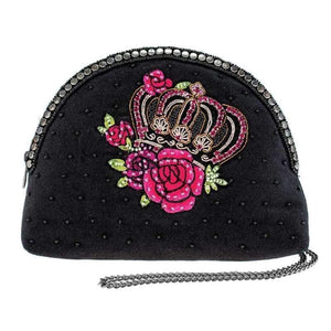 Mary Frances Queen of Everything Beaded Crossbody Make Up Bag
