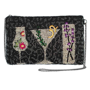 Mary Frances After Hours Beaded Crossbody Phone Bag