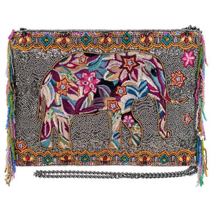 Mary Frances Forget Me Not Beaded Crossbody Clutch