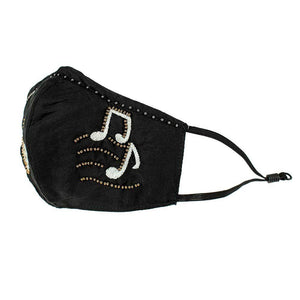 Mary Frances Musical Notes Face Mask