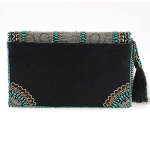 Mary Frances Squash Blossom Beaded Crossbody Clutch