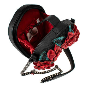 Mary Frances La Catrina Beaded Crossbody Handbag