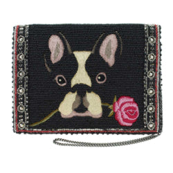 Mary Frances Bow Wow Beaded Crossbody Mini Bag