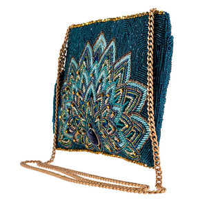Mary Frances/Disney Passion Peacock Clutch