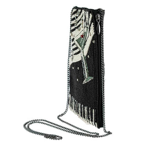 Mary Frances Piano Bar Beaded Crossbody Phone Bag