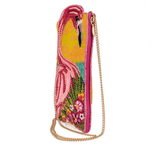 Mary Frances Pink Lagoon Beaded Crossbody Touch Screen Phone Bag