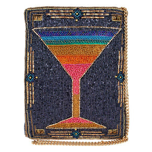 Mary Frances Rainbow Cocktail Beaded Crossbody Mini Bag