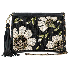 Mary Frances Sunshine and Daisies Beaded Clutch