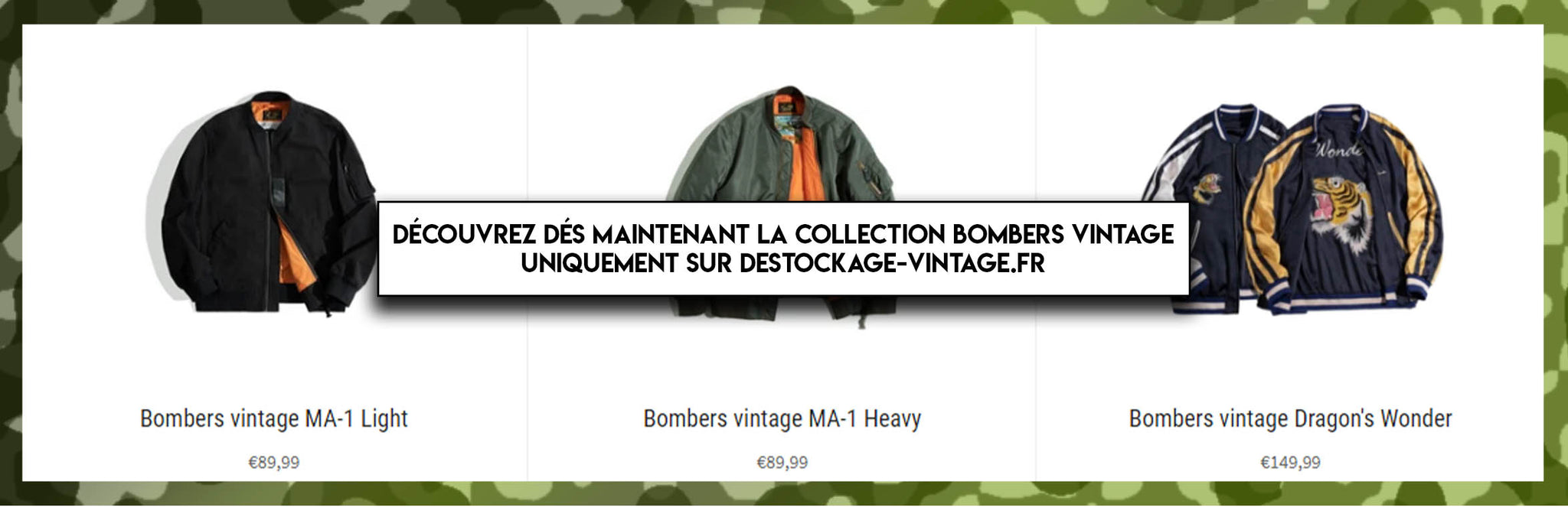 Collection bombers vintage