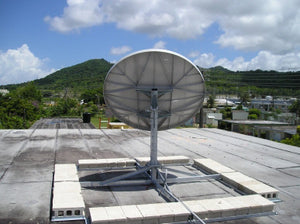 Antenna on an installed NPRM mount - back