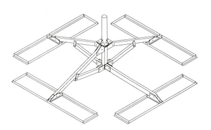Non-Penetrating Roof Mount for Antennas up to 2.4m