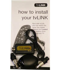 tvLINK device and instruction booklet