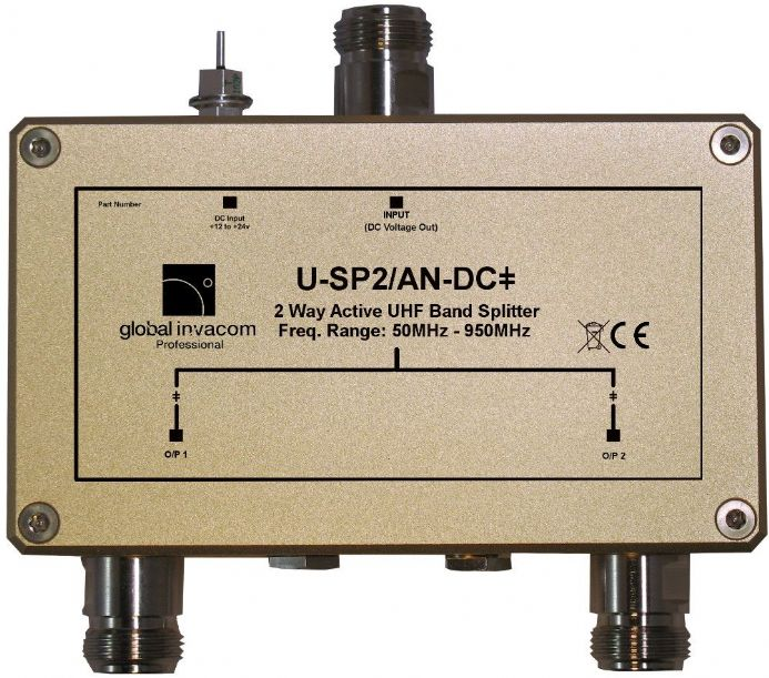 UHF 2 Way Active Splitter