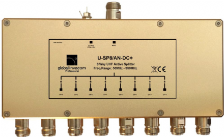 UHF 8 Way Active Splitter