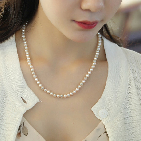 White-Freshwater-Cultured-Pearl-Necklace-Strand-for-Women