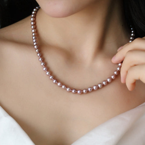 7-8mm-Flawless-Flawless-Pink-Freshwater-Cultured-Pearl-Necklace