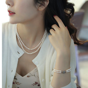 White-Freshwater-Cultured-Pearl-Necklace-Bracelet-Bridal-Gift-Set