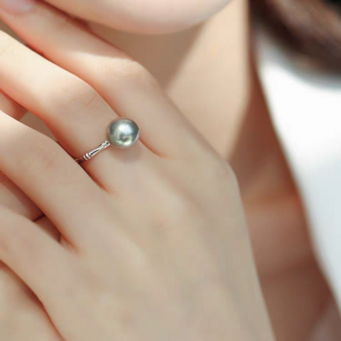 Black-Round-Tahitian-Pearl-Ring-Wedding-Anniversary-Gifts