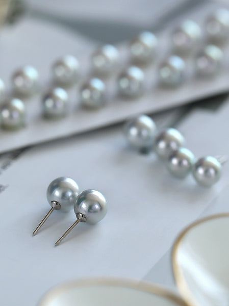 Genuine-Grey-Black-Japanese-Akoya-Cultured-Pearl-Earrings-for-Women