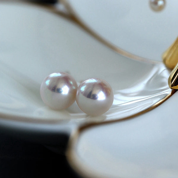 Round-White-Akoya-Cultured-Pearl-Stud-Earrings-for-Women