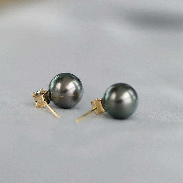 Tahitian-South-Sea-Cultured-Black-Pearl-Earrings