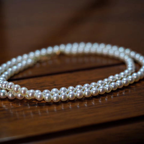 4mm-White-Small-Freshwater-Pearls-Choker-Necklace-For-Women-With-14K-Gold
