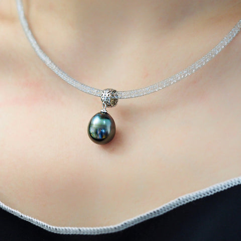 Tahitian-Baroque-Drop-Pearl-Pendant-Single-Pearl-Choker-Necklace-For-Women