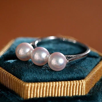 White-6-7mm-Japanese-Akoya-Cultured-Pearl-Ring-For-Women